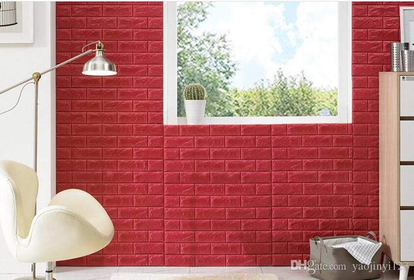 waterproof boards interior home decoration wall panel 3d xpe lightweigt faux brick wall panel kids room wall decals kids room wall stickers from
