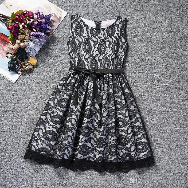 2016 Fashion Girls Eleganz Spitze Kinder Sommerkleid Elegant Sundress Baby Prinzessin Kleid Kinder Ziemlich Party Baby Rock bown Korea