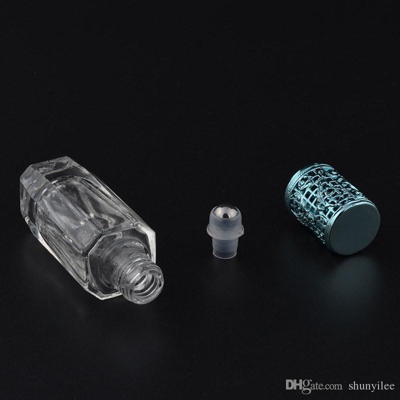 10ml Stahlkugel Roll-On-Druck nachfüllbar Parfüm BottleEmpty Glasparfüm-Kasten mit bunter tragbarer Flasche F20172537