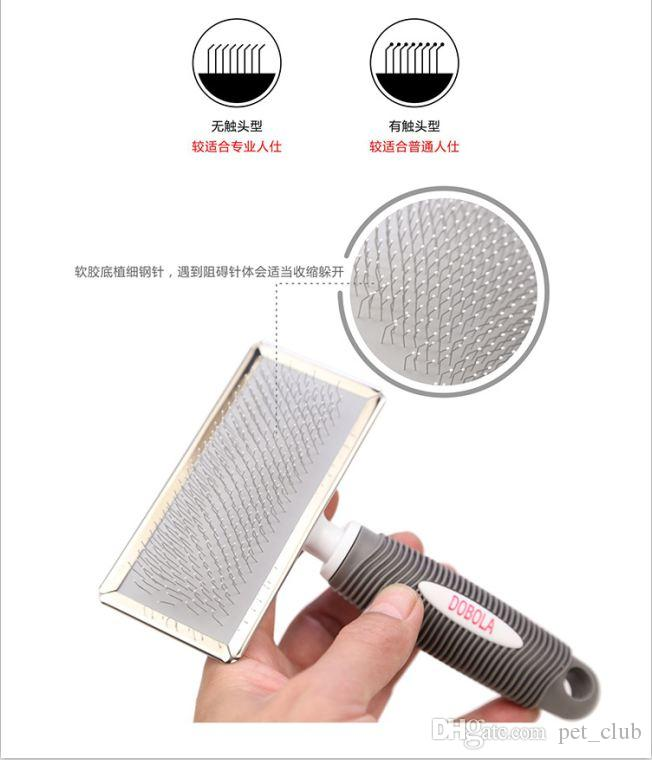 Dog Brush Stainless Steel Grooming Tool For Cat & Pet Long Hair Short Hair Expert Comb For Dog Pet