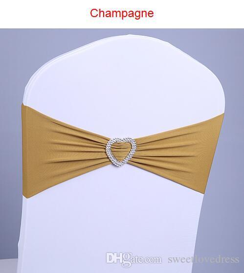 Spandex Lycra Wedding Chair Covers Sash Bands Wedding Party Birthday Chair Decoration Wedding Supplies