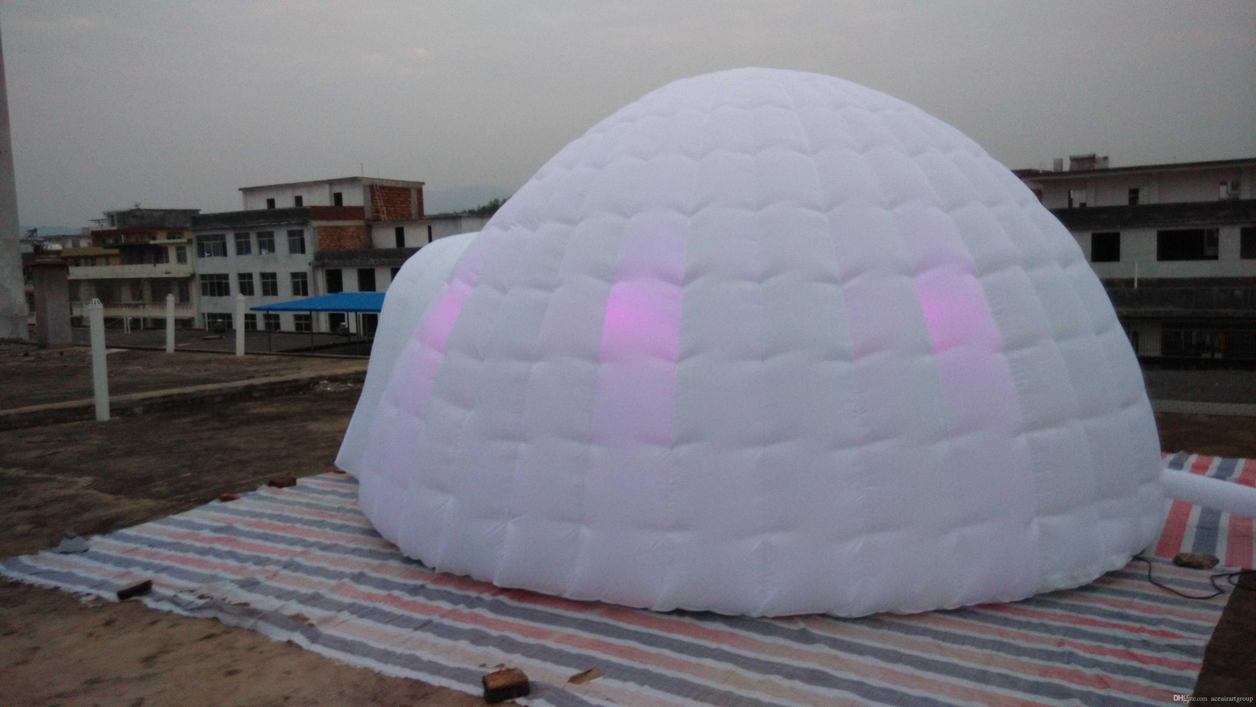 2018 Globular Inflatable Dome Tent Inflatable Igloo Tent For Reside With Lighting From Aceairartgroup $994.98 | Dhgate.Com & 2018 Globular Inflatable Dome Tent Inflatable Igloo Tent For ...