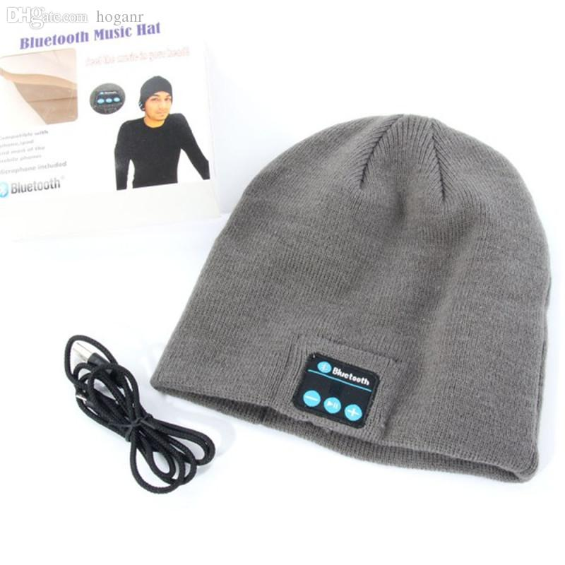 Wholesale-New Warm Beanie Hat Wireless Bluetooth Smart Cap Headphone  Headset Speaker Mic Speaker Camera Speaker Plastic Speaker Parts Online  with ... f8c009ad15a
