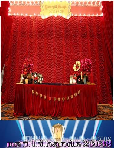High Quality 3x6m elegant water wave wedding curtain backdrops swags drapes for wedding/party decoration free shipping MYY