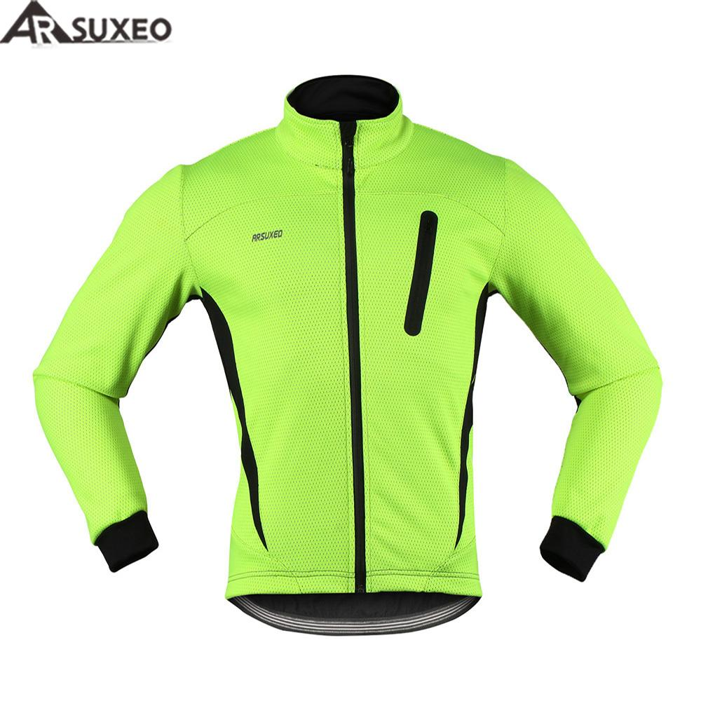 ARSUXEO 2017 Thermal Cycling Jacket Winter Warm Up Fleece Bicycle Clothing  Windproof Waterproof Sports Coat MTB Bike Jersey 16H Waterproof Cycle  Jackets ... 9eb6a9acc