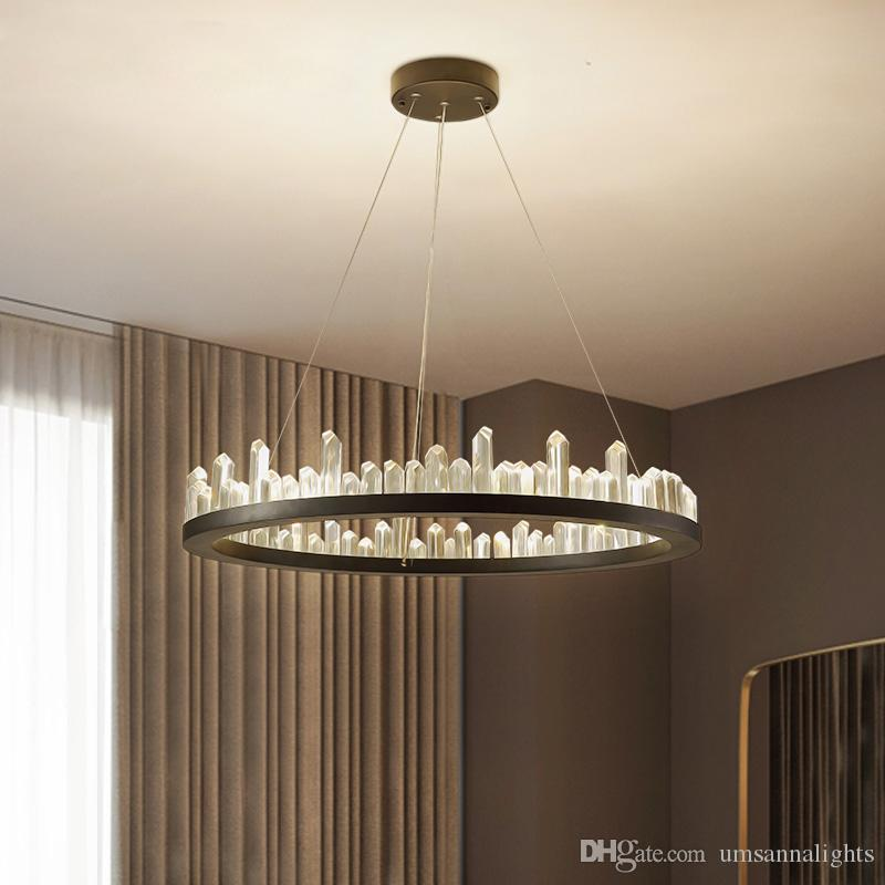 Modern crystal chandeliers american round chandelier lights fixture modern crystal chandeliers american round chandelier lights fixture led dimmable lamps dining living room indoor lighting 3 years warranty rope chandelier mozeypictures Images