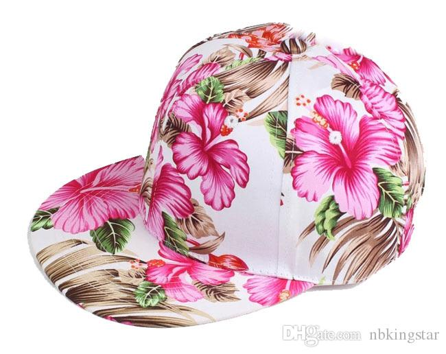 Flor Snapback Hat Cap Floral Print Gorra de béisbol es Envío gratis Envío gratis