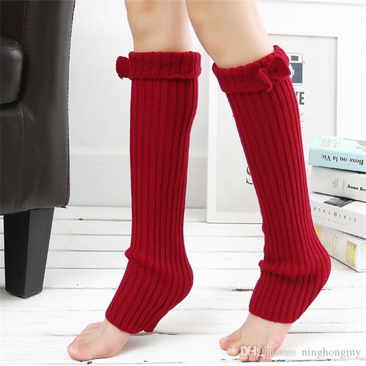 2018 أزياء مثير كوريا طماق القوس التعادل جورب نيباد المرأة السيدات الصوف الدافئة حك الكروشيه الأصفاد الشتاء الساق دفئا التمهيد الجوارب