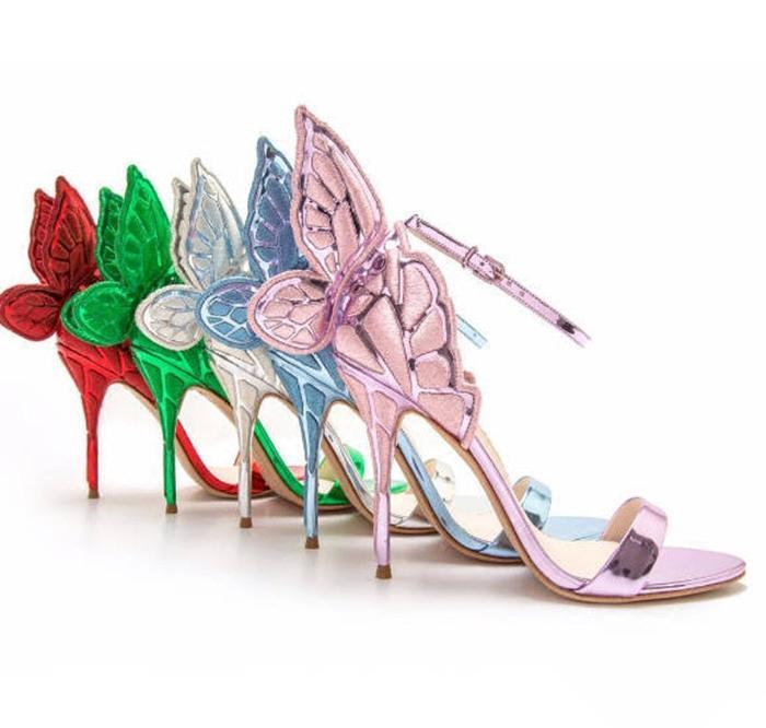 Sophia Summer Webster Butterfly Wings Donna High Heels Bowtie Summer Sophia scarpe   f84cfc