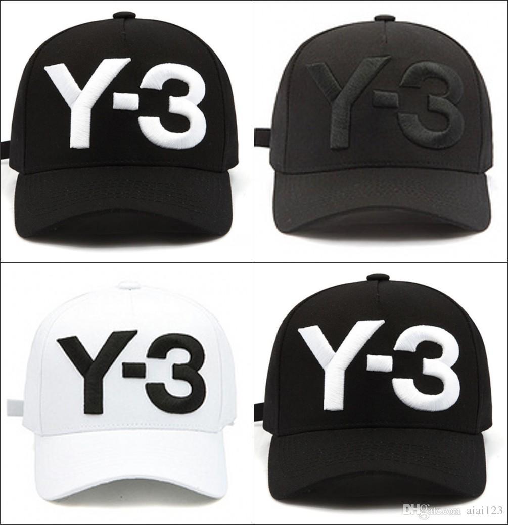 online retailer c47df f1c94 Hot Sale 2017 New Y 3 Dad Hat Big Bold Embroidered Logo Baseball Caps  Adjustable Strapback Hats Y3 Bone Snapback Sport Casquette Visor Gorra Hats  For Sale .