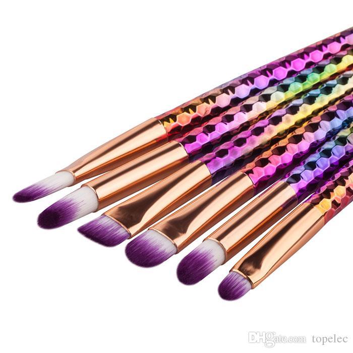 뜨거운 판매 다채로운 메이크업 브러쉬 세트 전문 블러쉬 가루 눈썹 아이섀도 립 코 블렌딩 브러쉬 화장 도구를 확인하십시오