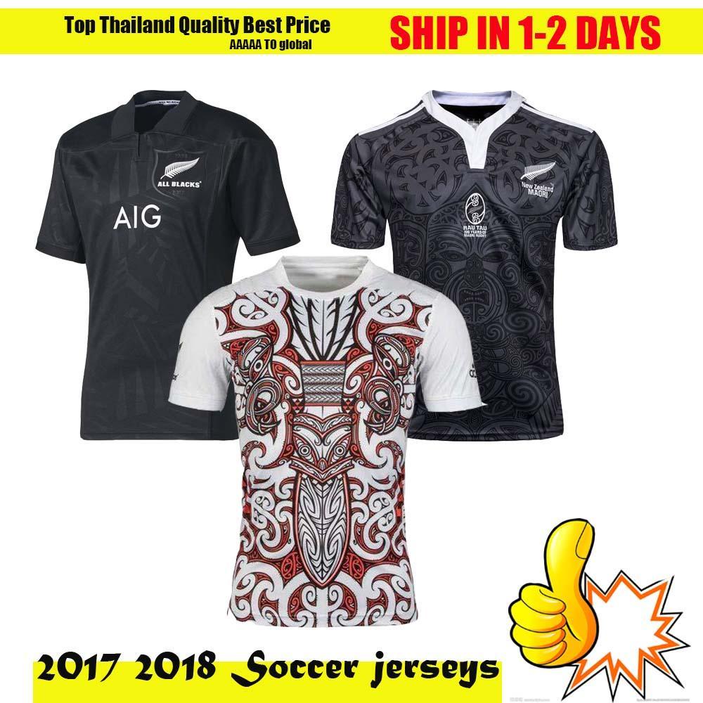 Compre Nova Zelândia Todos Os Pretos Rugby Camisa Jersey 2015 2016 2017  Temporada da794f2ada5f4
