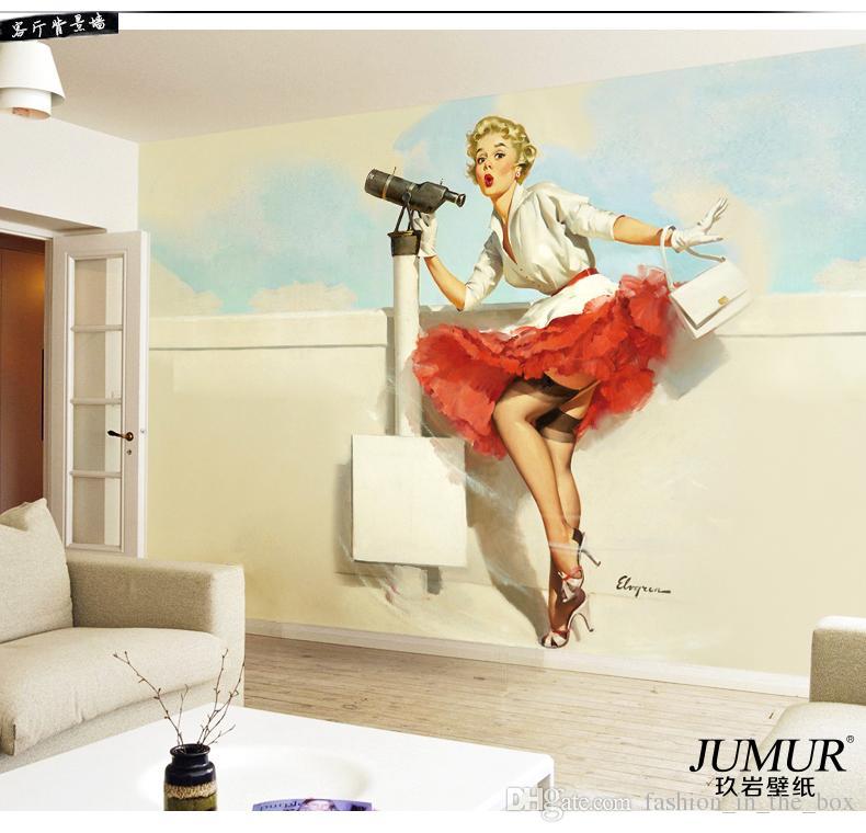 Sexy 3D Wallpaper Marilyn Monro Photo Wallpaper Wall Murals Bedroom Clothing store Room Decor TV Backdrop Wall Mural Designer Wallpaper Art