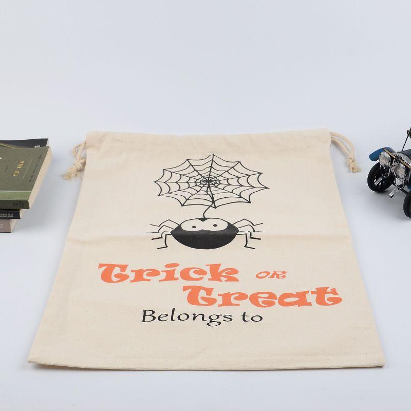 2017 Yeni Cadılar Bayramı Büyük Tuval çanta pamuk İpli Çanta Ile Kabak şeytan örümcek Yortusu Hediyeler Çuval Çanta 9 Stilleri Ücretsiz DHL