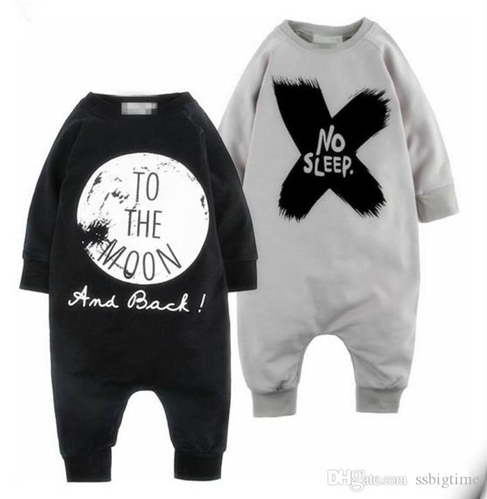 707dddd91 2019 2017 INS Boys Girls Baby Jumpsuits NO SLEEP Rompers Clothing ...