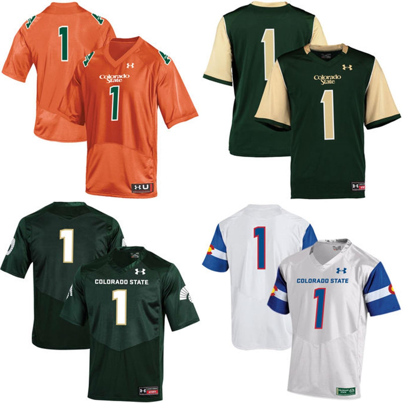 check out 104ad ad737 Wholesale Customize NCAA Colorado State Rams Mens Womens Kids Jersey Custom  Any Name Any No. 100% Stitched S-6XL College Football Jerseys