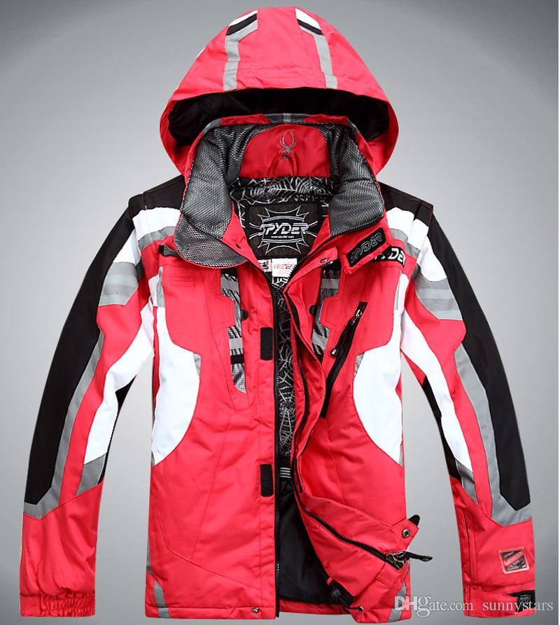 Abbigliamento da sci impermeabile antivento degli uomini della giacca da sci di sportwear all'ingrosso-all'aperto Trasporto libero