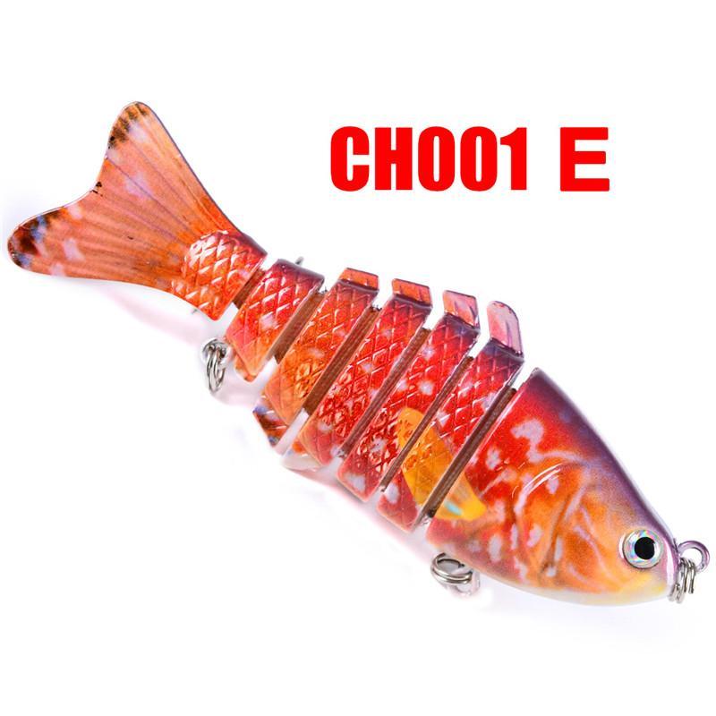 New Plastic Woobbler Fishing Lure Saltwater BASS Crankbait 10cm 15.6g 7 segments bait with 6# Fishing Hook