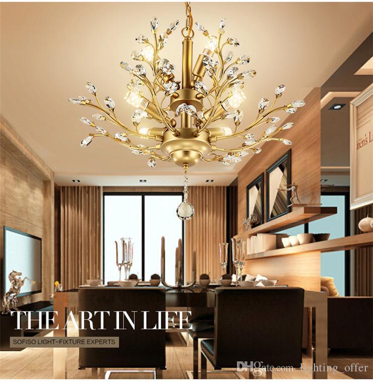 Modern Gold Shell Crystal Home Plafoniera Montaggio a incasso, Lampadari a sospensione Lampadari Illuminazione soggiorno Camera da letto
