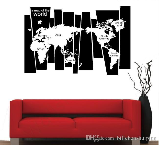 Removable Large World Map Wall Sticker Poster Home Decoration Living Room  Map Of World Decorative Wall Decals Bedroom Wallpaper Bedroom Decal Bedroom  Decals ...