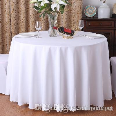 Polyester Fabric Solid Round White Table Cloth For Hotel Wedding Party  Decoration Rectangle Tablecloth For Home Tablecloths Uk Linen Tablecloths  From ...