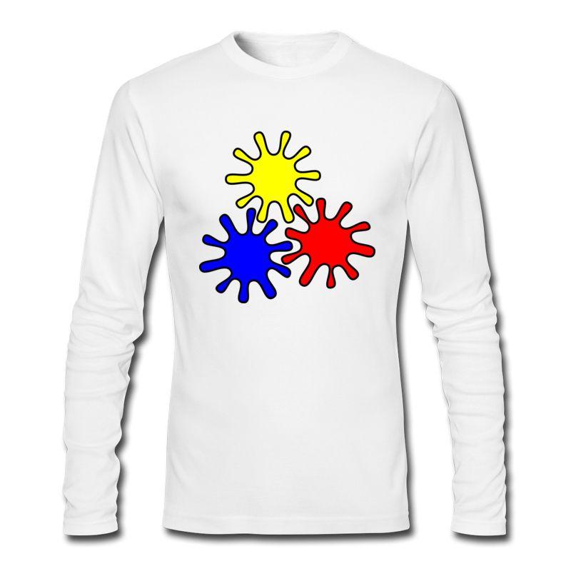 Лучшие продажи горячие популярные футболки красочные Cog Pattern печатные футболки 2017 новый осень зима с длинным рукавом рубашки