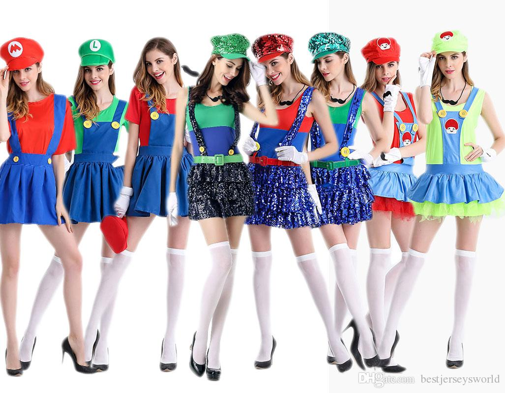 halloween mario super mario anime cosplay costume adult female