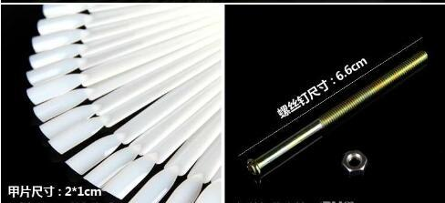 falsi punte di pratica dell'esposizione del polacco di arte del chiodo bastone trasparente due colori chiari strumenti di trucco di DIY