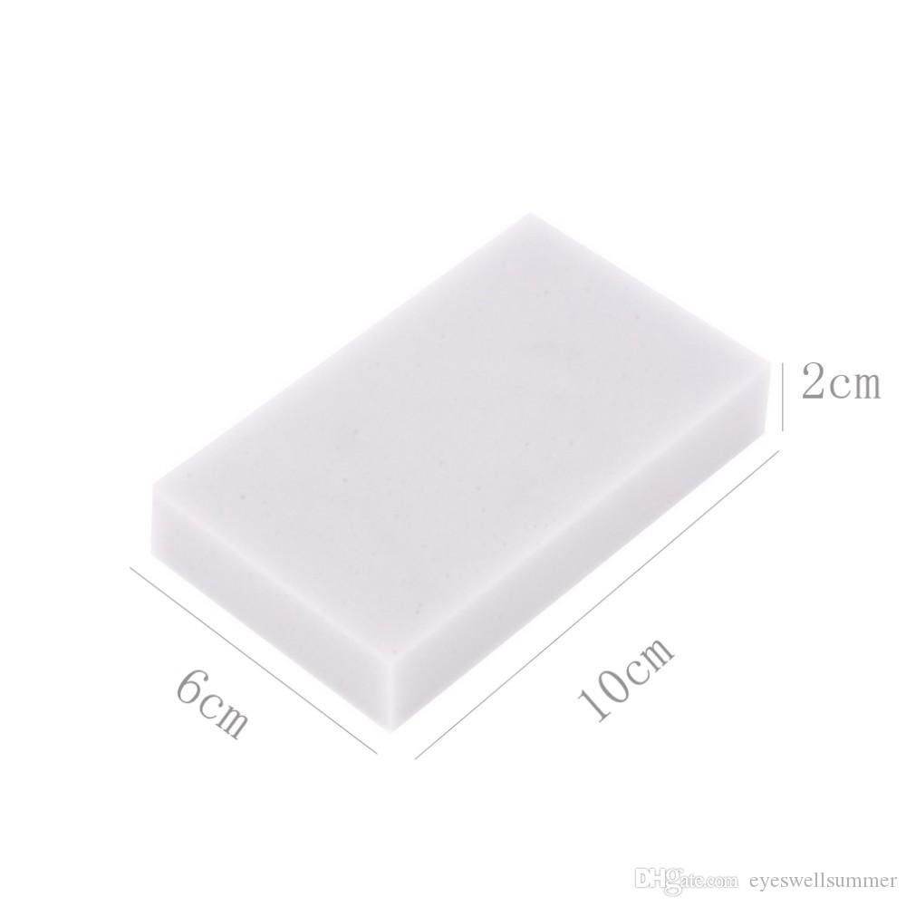 White Magic Melamin Schwamm 100 * 60 * 20mm Reinigung Radiergummi Multifunktionales Sponge ohne Verpackungs-Beutel Haushalts-Reinigungs-Werkzeuge