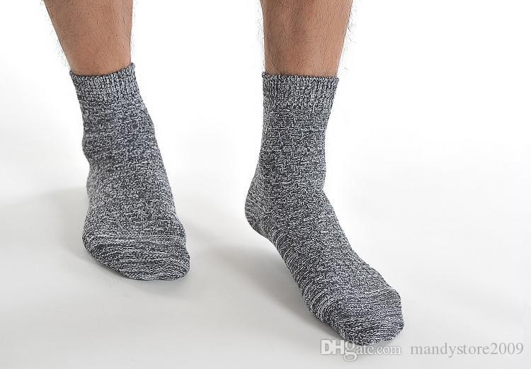 2016 10 Paare / los Männer ECAO Socken Dicker Faden Baumwolle Fußkettchen Socken Männlichen Schiff Socken Top Qualität Casual Kurze Socken