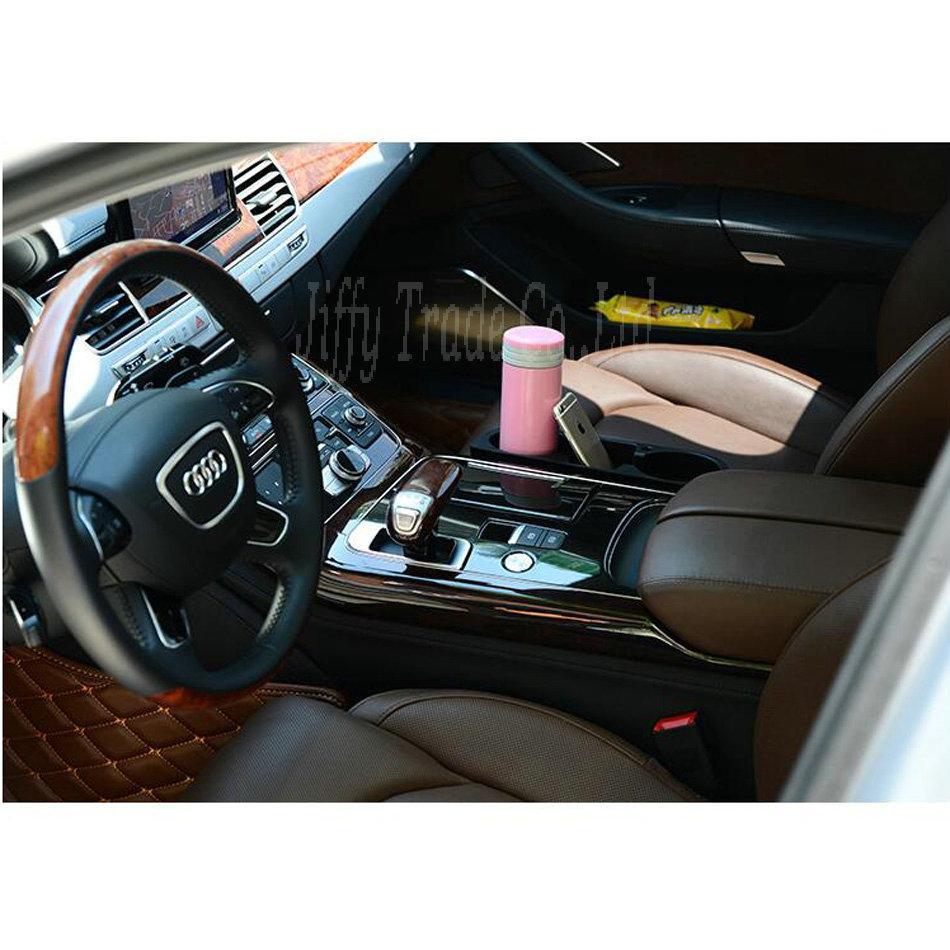 Nuevo Portátil Taza de vehículo multifunción Soporte para teléfono celular Soporte para bebidas Caja de guantes Accesorios para autos colro: negro