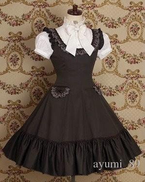 LLT045 Abiti Lolita senza maniche Dolce Lolita Abito corto Abito corto Vestito operato da promenade Vestito da festa mascherato di Halloween