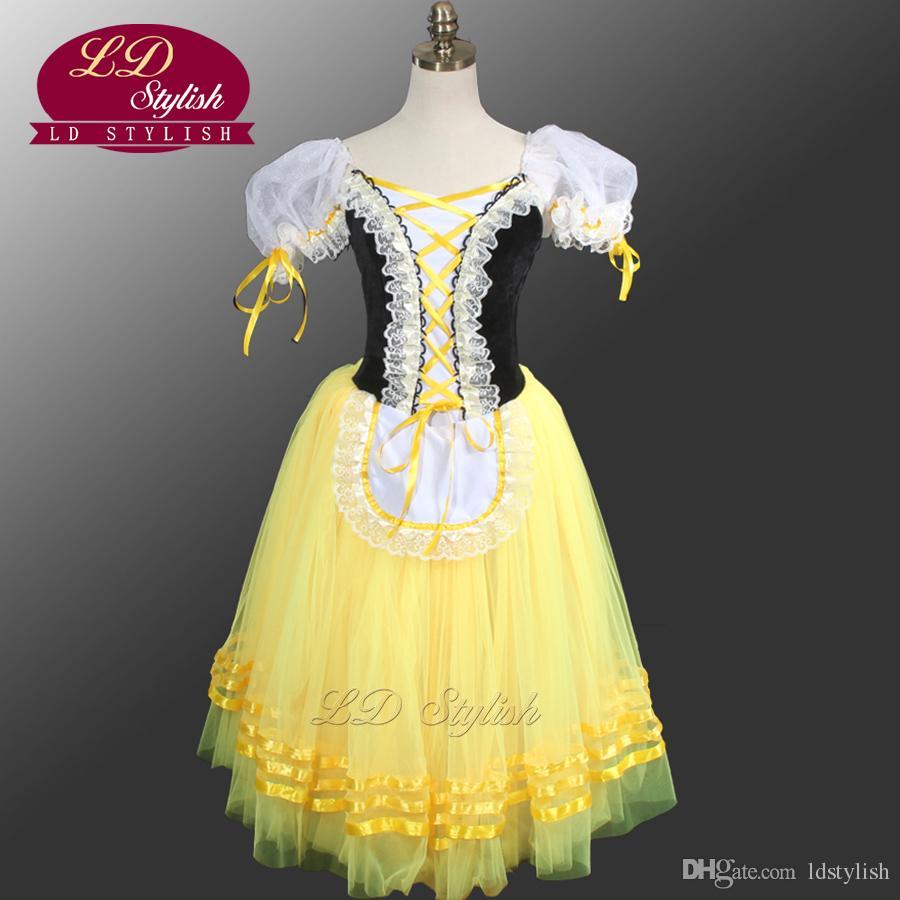 Compre Giselle Degas Vestido De Tutú De Ballet Campesino Ld0003d Amarillo Giselle Tutu Vestido De Niñas Vestido Romántico De Tutú Vestidos De Ballet