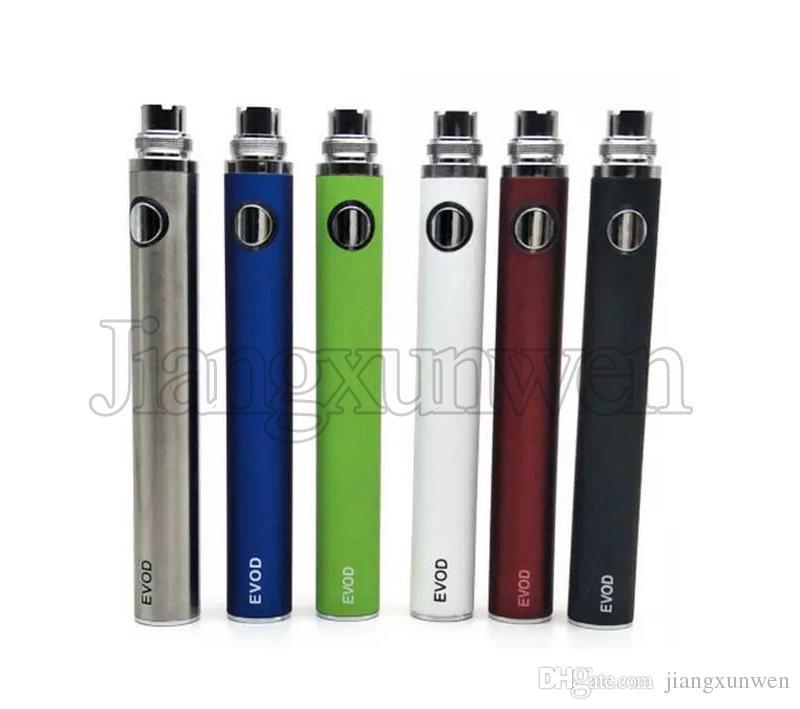 Batteria EVOD Batteria 650 900 1100 mah e sigaretta Vaporizzatore eGo 510 discussione EVOD MT3 CE4 atomizzatore serbatoio Vape penna Ecig Batterie