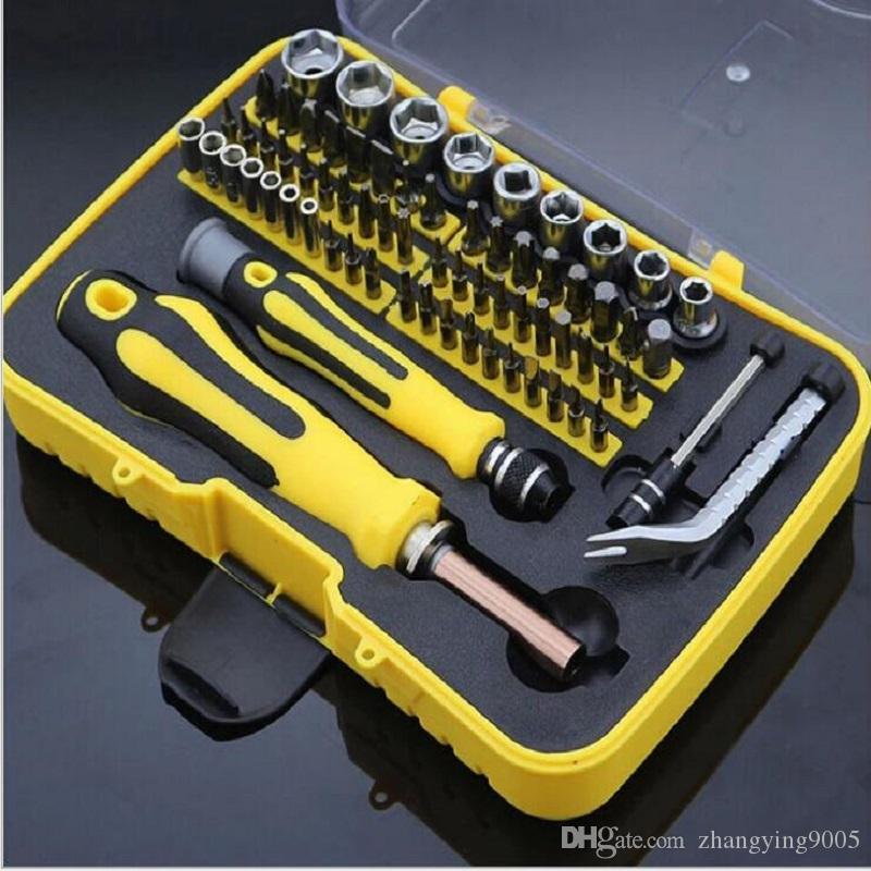 Kit de destornilladores de alta calidad para desmontar la máquina eléctrica que repara las ventas de fábrica profesional herramienta manual multifuncional 70 en 1