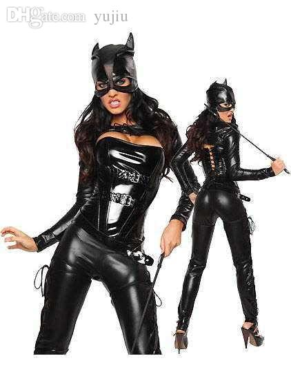 Wholesale New Arrival Long Sleeve Black Leather Halloween Animal Cosplay Catwoman Costume Sexy Cat Woman Costume Wiggles Costumes Japanese Halloween ...  sc 1 st  DHgate.com & Wholesale New Arrival Long Sleeve Black Leather Halloween Animal ...