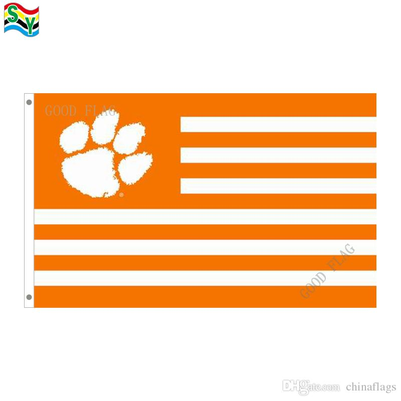 2019 Goodflag Clemson Tigers Wy Flags Banner 3x5 Ft 90150cm