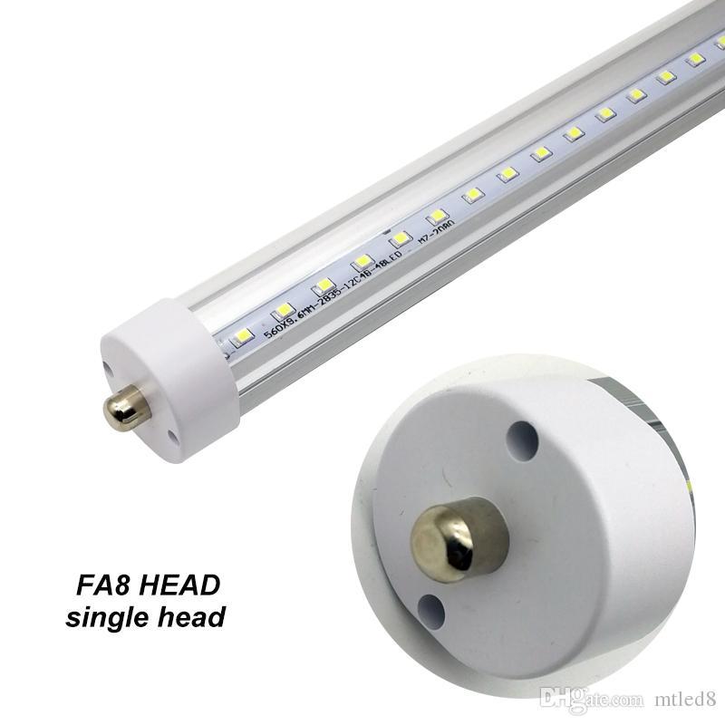 Tubi LED T8 8ft LED 6000K Single Pin FA8 45W LED Tube Light 8 piedi 8 piedi 100LM / W Lampadina fluorescente
