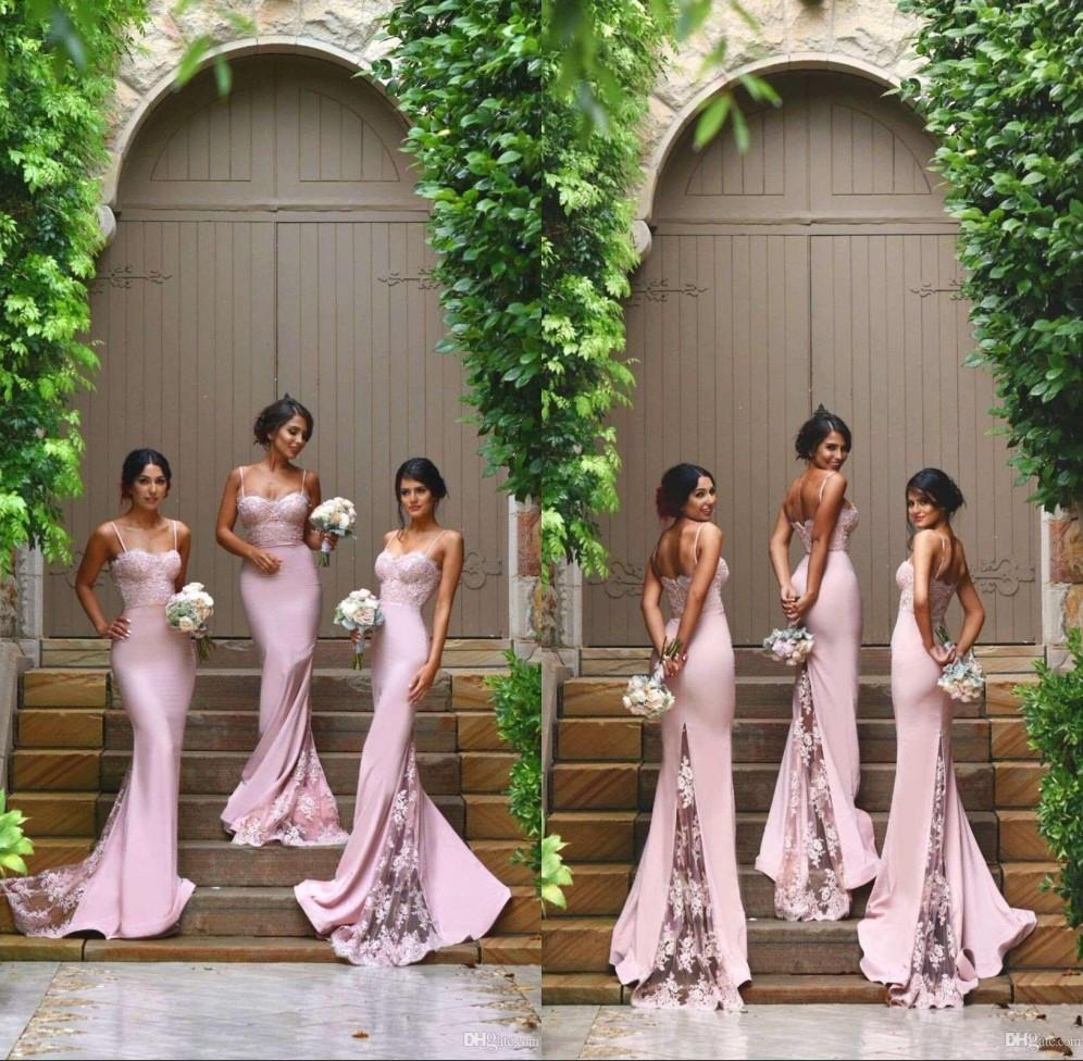 2018 custom new designer hot pink sexy column bridesmaid dresses 2018 custom new designer hot pink sexy column bridesmaid dresses spaghetti sweetheart lace appliques backless maid of the honor dresses printed bridesmaid ombrellifo Gallery