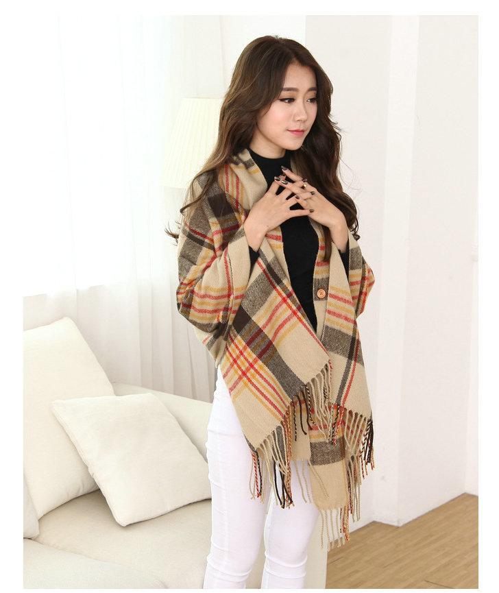 2018 limitée dans le temps Top Fashion 175cm Mode Marque Écharpe d'hiver pour les femmes Femme Plaid Cachemire Chaud Châle et écharpe, tissé Poncho