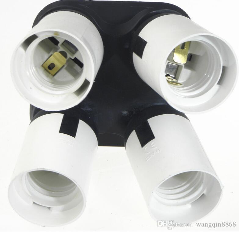 Flashpoint 4 Socket Adapter 4 in 1 Socket Adapter Holder Converter, Standard Light Bulbs Lamp Socket Splitter for Photo Studio Lighting, Wo