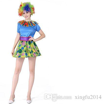 xingfu2014 Halloween masquerade clown magician tuxedo suit adult costume party clown funny clown costume party cosplay