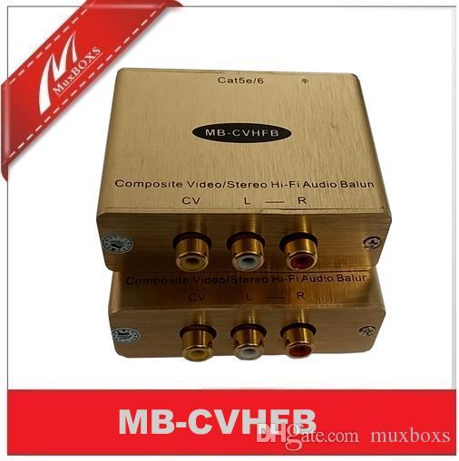Stereo Ses Video Genişletici AV Balun kompozit video balun RCA video genişletici üzerinde cat5e / 6