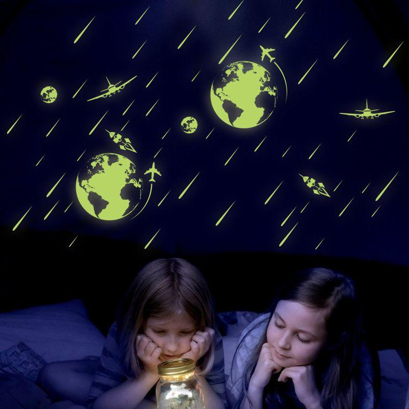 Светятся в темноте овечка Амур космический метеоритный дождь стены стикеры световой наклейки на стены окно стекло Спальня Гостиная стены аппликация