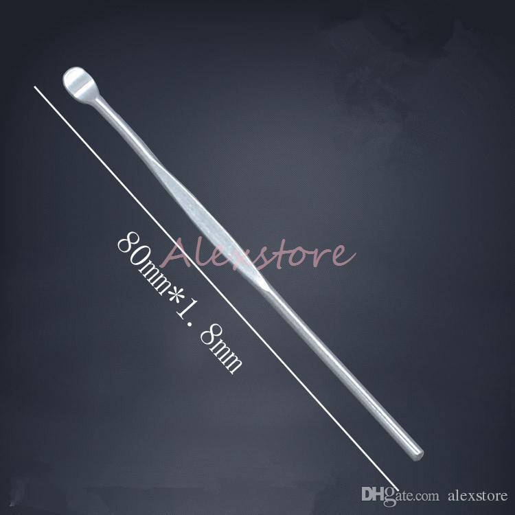 Wachs Dabber Tools Zerstäuber Tank Edelstahl 80mm Dab Jar Smoking Tool für trockenes Kraut Titan Nagel für Vape Vaporizer Pen