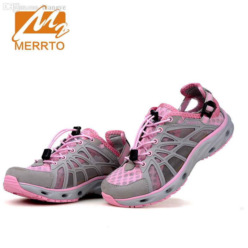 Wholesale-MERRTO 2016 New Brand Women Beach Water Aqua Shoes Upstream  Fishing Wading Shoes Water Breathable Sneakers #18376 Shoe Drawer Shoes  Bounce Shoe ...