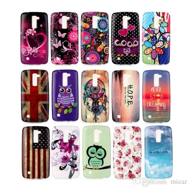 cheap for discount 292e7 e4221 Water paste painting Soft TPU case for LG K10 LTE K410 K420N K430 K7 V10  Silicone Gel Soft Protective Back Cover phone case