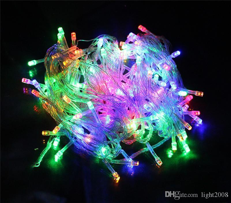 hottest UPS FREE 10M 100LED colorful LED String Fairy Light XMAS Christmas Party Wedding lights Twinkle lights