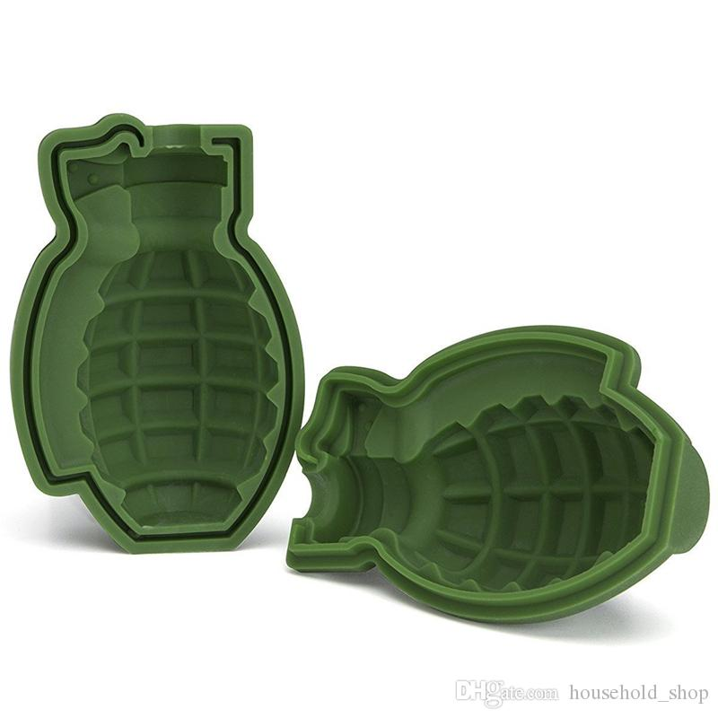 3D Granate Form Eis-Würfel-Form Kreative Eiscreme-Hersteller-Party-Getränke-Silikon-Tabletts Moulds Küche-Stab-Werkzeug Mens Gift