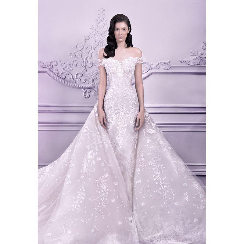 Michael Cinco Mengfei Arabic Designer Wedding Dress Detachable Royal ...